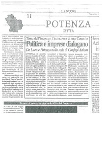 comunicato stampa La Nuova